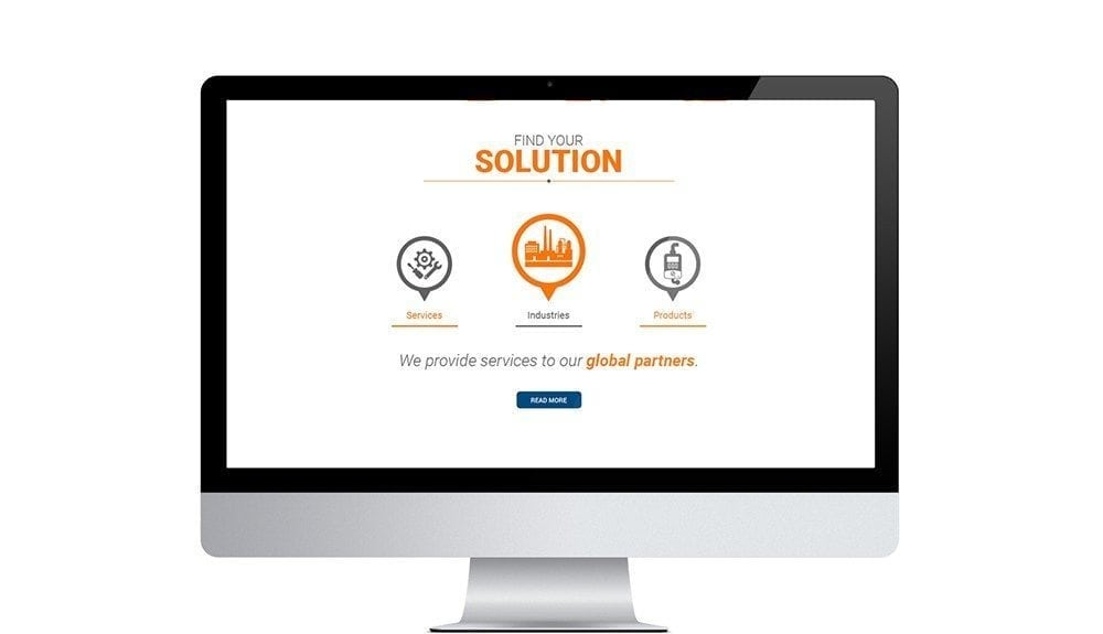 Responsive website for Engineering Service Firm